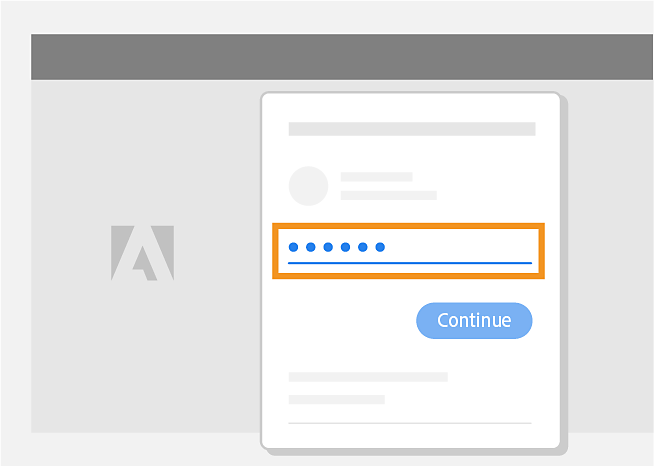 Sign in to your Adobe account