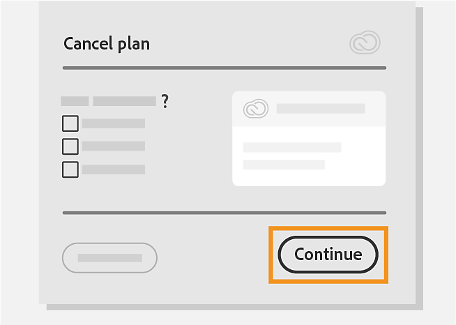 Select the reason for cancelation